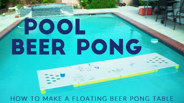 Floating Beer Pong Table Diy Pool Pong Tutorial